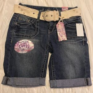 NWT Wallflower Jean Shorts